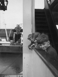Holdsworth boys on the MV Munster, 1960