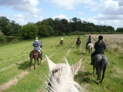 Some of the riders at Buckland House, Devon