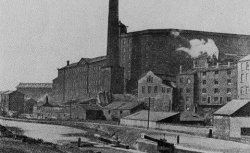 Shaw Lodge Mills and canal viewed from Siddal ca. 1900