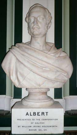 Statue of Prince Albert in Pride of Place in Halifax Town Hall, 9 Sept 2008
