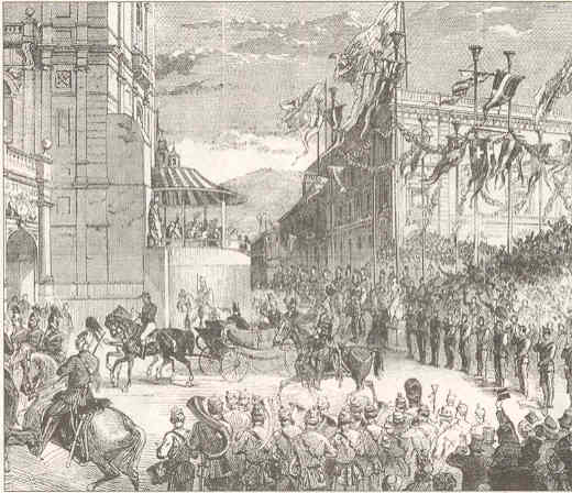 Opening Halifax Town Hall, 1863